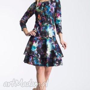 sukienka lady midi azalia, midi, wiązanie, kokardka, falbanki, urocza, mini, święta
