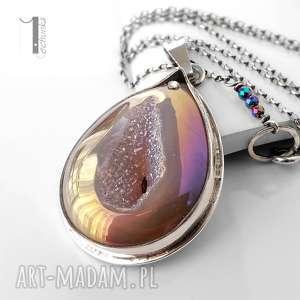 Prezent Perperuna II srebrny naszyjnik z kwarcem tytanowym druza, kwarc, tytan