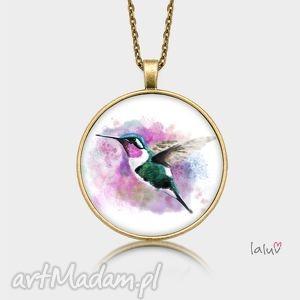 Medalion okrągły KOLIBER, ptak, koliberek, nektar, kwiat, tropiki, wakacje