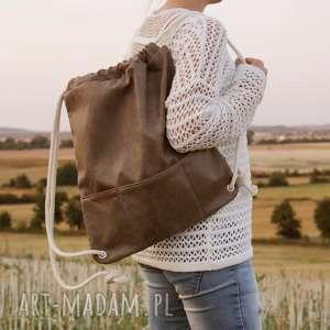 Plecak vegan taupe manufakturamms torba, plecak, vegan, lato,