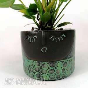 polepione osłonka ceramiczna z serii rodzina - helenka, osłonka, donica