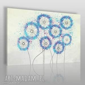 obraz na płótnie - dmuchawce minimalizm 120x80 cm 53901, dmuchawce, kwiaty, natura