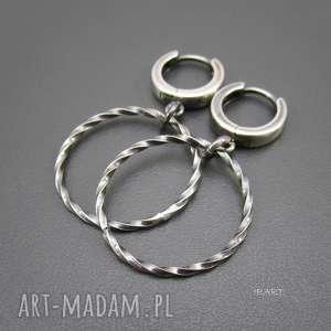 kolczyki koła - kolczyki, srebro, koła, biżuteria