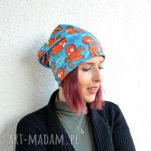 czapka ośmiornica beanie kolorowa, czapka, beanie, ośmiornica, meduza