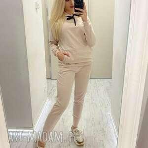 dres damski pastel beige oliwia, dres, sukienka, spódnica, bluza, spodnie