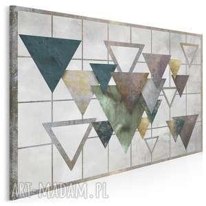 obraz na płótnie - trójkąty industrialny scandi 120x80 cm 95001