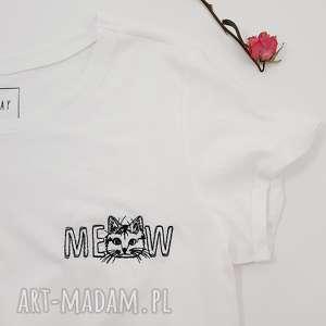 koszulka z haftem meow - ,meow,kot,kotek,haft,koszulka,oversize,