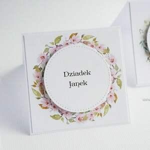 vairatka-handmade winietki na stół 5 szt - wizytówki, ślub
