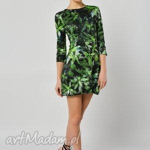 Sukienka Garden Party, jersey, sukienka, lato, liście
