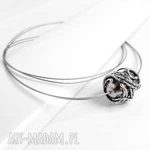 graphite iii srebrny naszyjnik z perłą majorka - wirewrapping