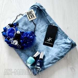 morskie oko naszyjnik handmade - naszyjnik, niebieski, kobalt, szafir
