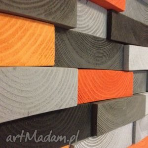 Mozaika drewniana - NA ZAMÓWIENIE, mozaika, ozdoba, dekoracja, ściana, płaskorzeźba,