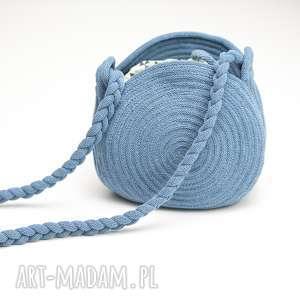 artshoplalashop torebka okrągła must-have, torebka, sznurek, okrągła, bawełna
