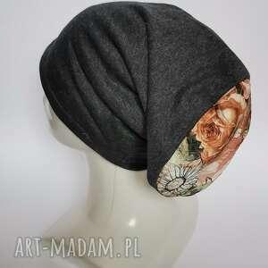 czapka damska na podszewce małą głowę rozmiar 55-56cm polecam box d1