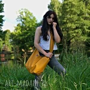 torebki musztardowa torba hobo w stylu boho / long boogi bag - do noszenia