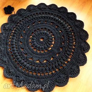dywany dywan wykonany ręcznie na szydełku 90 cm, dywan, dywanik, chodnik, wełna