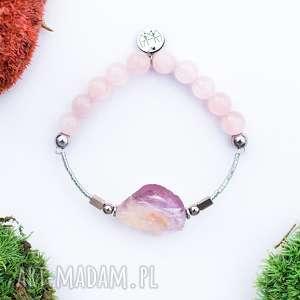 WHW High - Moon Princess, ametryn, kwarc-różowy, hematyt, kamienna, surowa, stonowana