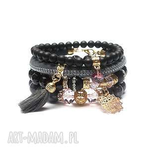 hand made grey and antique pink vol. 21 /19 -09 -19/ set