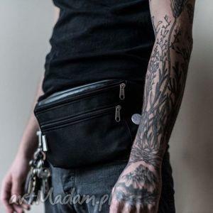 nerki nerka z serii messenger black, saszetka, oversize, unisex torebki