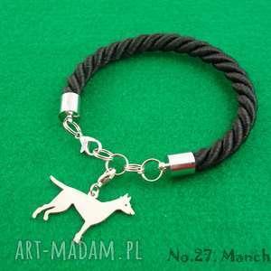 bransoletka manchester pies nr 27, bransoletka, pies, prezent, rękodzieło