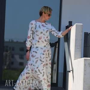 ręcznie zrobione sukienki w piórka-sukienka