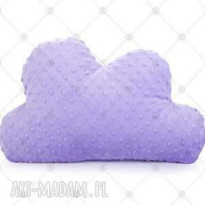 hand-made pokoik dziecka fioletowa chmurka minky makaszka