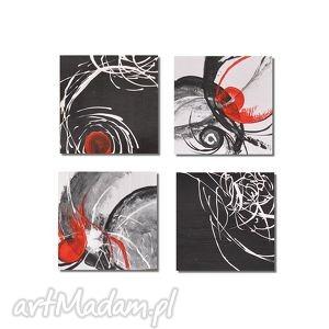 abstrakcja w czerni i bieli 2, nowoczesny obraz ręcznie