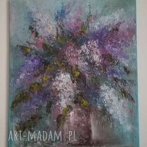 duży olejny obraz oryginał sygnowany 9, obraz, sztuka, kwiaty, styl, prezent
