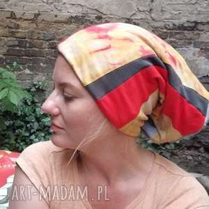 handmade czapki czapka damska patchworkowa ciepła miękka