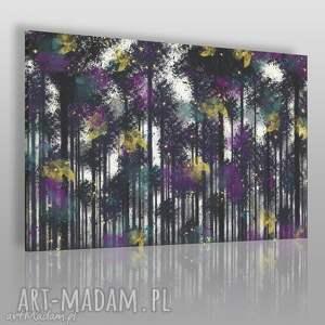 obraz na płótnie - las natura drzewa 120x80 cm 71701, las, natura, drzewa, wystrój