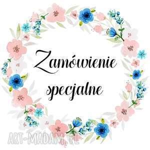 zamówienie specjalne p julii, album, drewno, wianek, kwiaty, eko, rustykalne