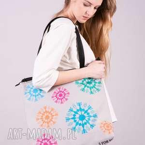 handmade na ramię torba co dzień-beż