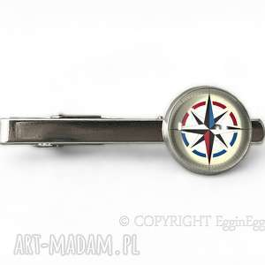 egginegg kompas - spinka do krawata - podróżnika, męska