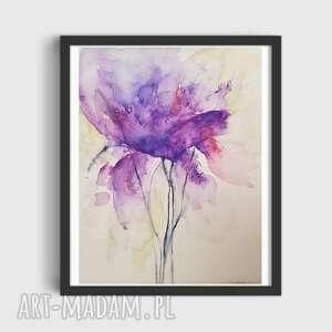 kwiatek-akwarela formatu a4, kwiatek, papier, akwarela