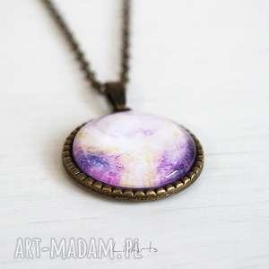 medalion, talizman - anielski kontakt antyczny brąz, naszyjnik, medalion
