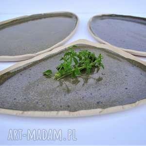 ceramika tyka talerze ceramiczne patery - zestaw 3 szt, ceramika, talerz