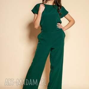 handmade ubrania kombinezon z odkrytymi plecami - kb121 zielony