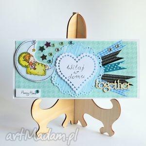 Kartka dziecięca - Witaj w domu, kartka, dziecko, romantyczna, powitanie, narodziny