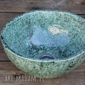ceramikalukasgreen umywalka nablatowa handmade, ceramiczna umywalka, producent