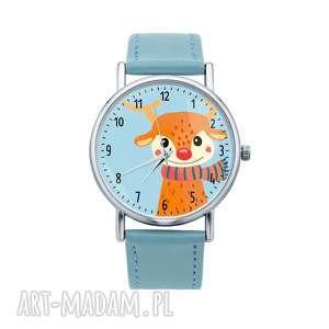 zegarek z grafiką świąteczny renifer rudolf prezent pod choinkę na mikołaja