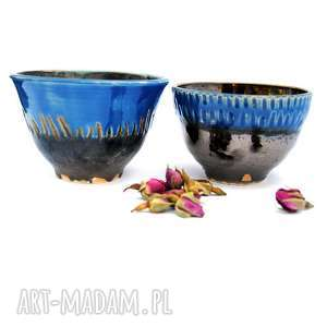 Ceramiczne czarki strugane III, ceramika, czarki, naczynia, unikatowe, użytkowe