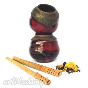 Matero X - ceramiczny zestaw do yerba mate, czarka, pojemnik, naczynie, użytkowe