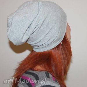 czapka beanie dresowa dwustronna s m l, czapka, dresowa, melanż, dreszówka