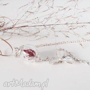 ręczne wykonanie naszyjniki naszyjnik suszony kwiat
