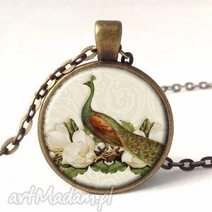 paw - medalion z łańcuszkiem - białe naszyjniki, wiktoriański