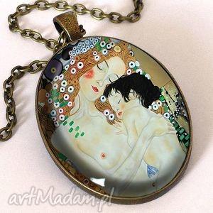 macierzyństwo - owalny medalion z łańcuszkiem egginegg, artystyczny
