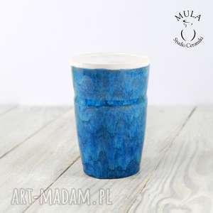 Kubek niebieski ceramika mula ceramiczny, pracy, kubek,