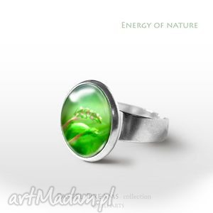 Pierścionek - Energia natury, pierścionek, pierścień, kwiat, kwiaty, łąka, urodzinowy
