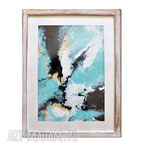 acqua di follia 24, obraz, abstrakcja, ręcznie, malowany