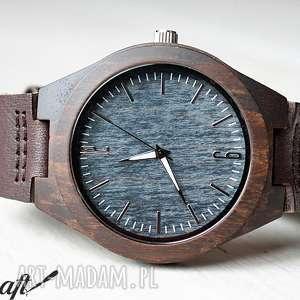 Drewniany zegarek FIELDFARE , zegarek, drewniany, ekologiczny, skórzany, skóra
